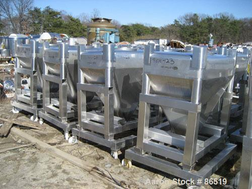 Used- Stainless Steel GEI Galley Stackable Tote Bin