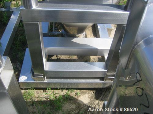 """USED: GEI Galley stackable tote bin, approximately 20 cubic feet,stainless steel. 43-1/2"""" wide x 28"""" long x 8"""" straight side..."""