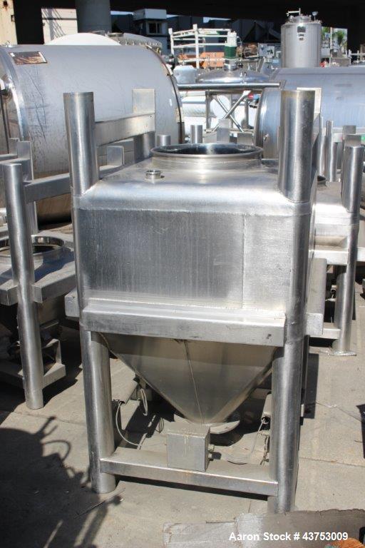 Used- 500 Liter Stainless Steel Glatt Tote