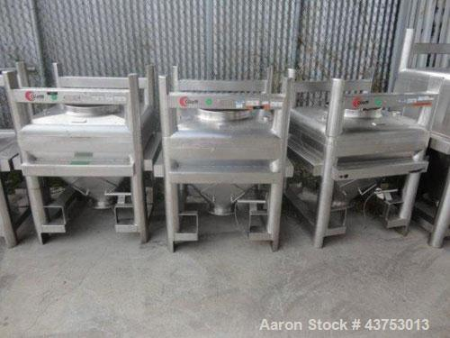 Used- 500 Liter Stainless Steel Glatt Tote