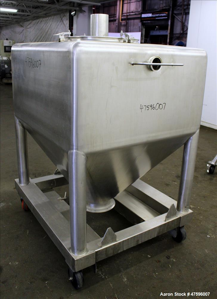 Used- Glatt Tote Bin, 1200 Liter (317 Gallon), 304 Stainless Steel.