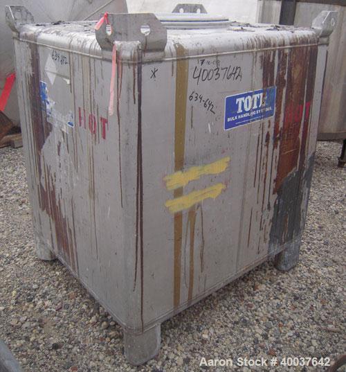 Used- Stainless Steel Hoover Group Liquid Tote Bin