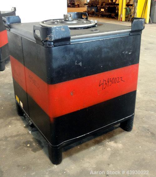 Used- Hoover Group Liquid Tote Bin, 350 Gallon (46.77 cubic feet), Carbon Steel. Rated internal 9.5 psig, DOT 57 specificati...