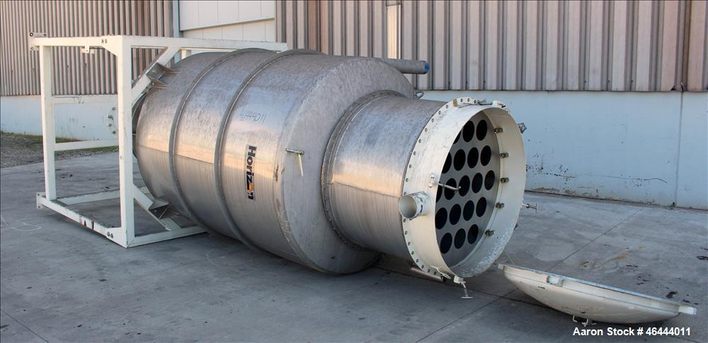 """Used- Horizon Systems Filtered Hopper, Approximate 200 Cubic Feet, 304 Stainless Steel, Vertical. 72"""" Diameter x 84"""" straigh..."""