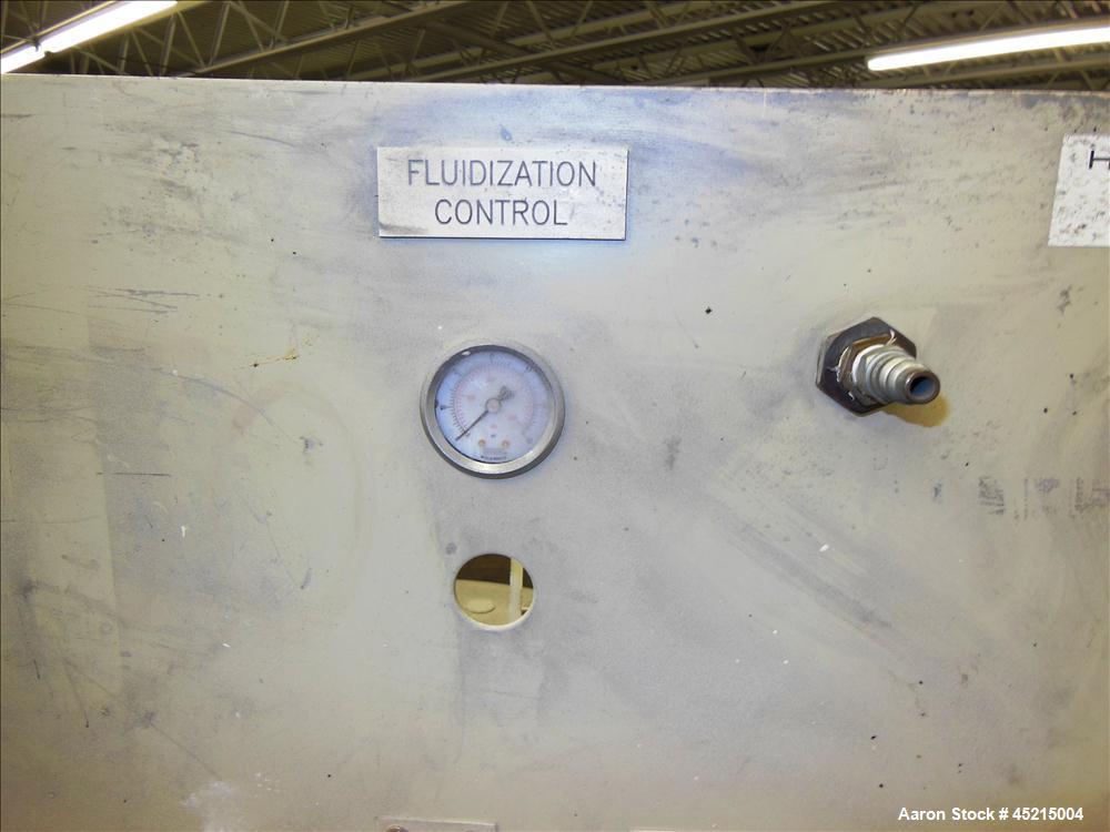 Used- Stainless Steel ITW Gema Powder Coating Fluidization Hopper
