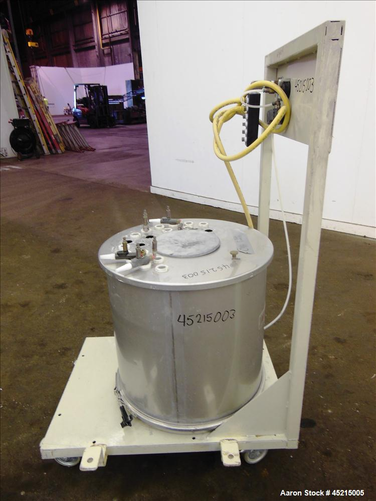 Used- Stainless Steel ITW Gema Powder Coating Fluidization Hopper