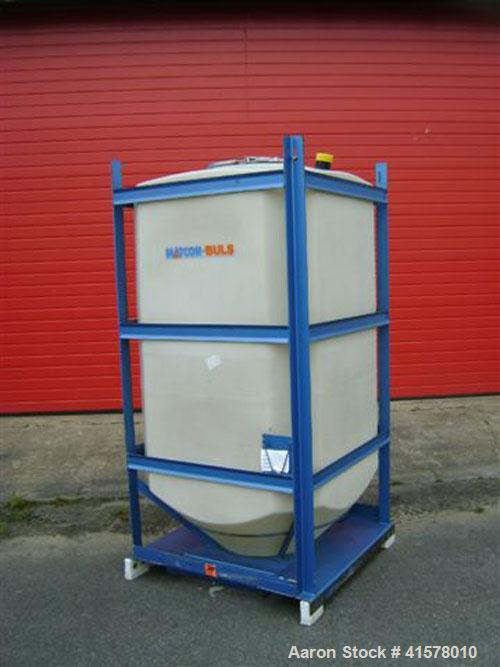 "Used- Matcon-Buls ""R"" Series Intermediate Bulk Container, approximately 79.4 cubic feet (2250 liter), polyethylene. Approxim..."