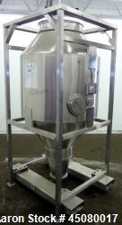 Used- Stainless Steel Jenike & Johanson Cone-In-Cone Tote Bin