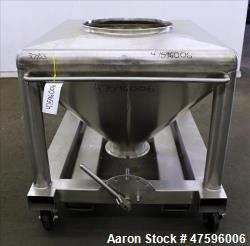 Used- Glatt Tote Bin, Approximate 1200 Liter (317 Gallon), 304 Stainless Steel.