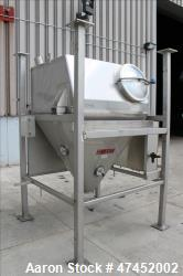 Used- Nu-Con Hopper, Approximate 30 Cubic Feet, 304 Stainless Steel, Vertical.