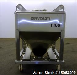 Used- Servolift Tote Bin, 316 Stainless Steel, Approximate 264 Gallon, 35 Cubic