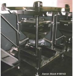 Used- Stainless Steel Transtore Tote Bin, Model 514754