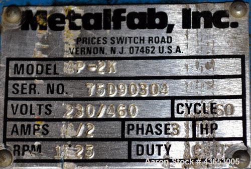 "Used- Metalfab Bin Activator / Bin Discharger, Model BA-5, 304 Stainless Steel.  Approximately 59-1/4"" diameter, 5-1/2"" cent..."