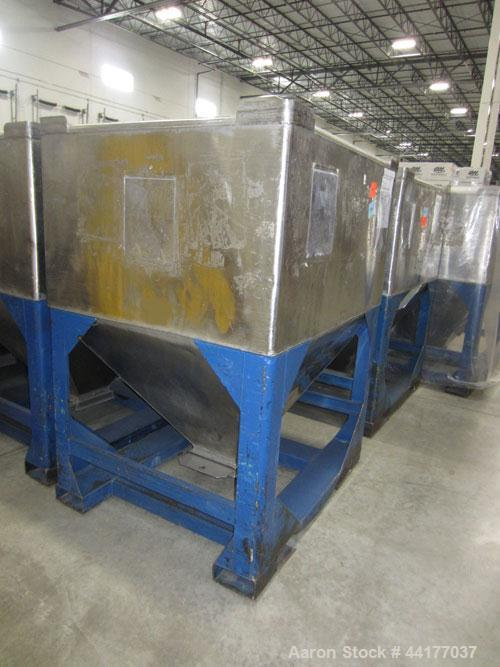 Used- Stainless Steel Mid-States Manufacturing & Engineering Powder Tote Bin