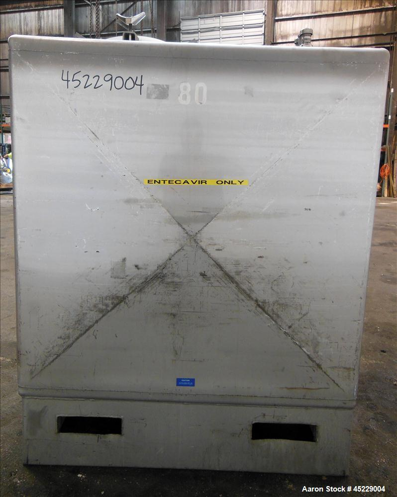 Used- Stainless Steel 520 Gallon Mueller Porta Tote Liquid Storage Tote