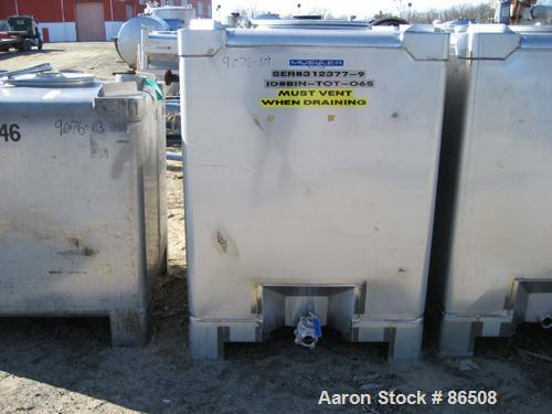 """USED: Mueller stackable tote bin, model PT Sanitary. 58 cubic feet(435 gallon), stainless steel, 40"""" wide x 40"""" long x 48"""" s..."""
