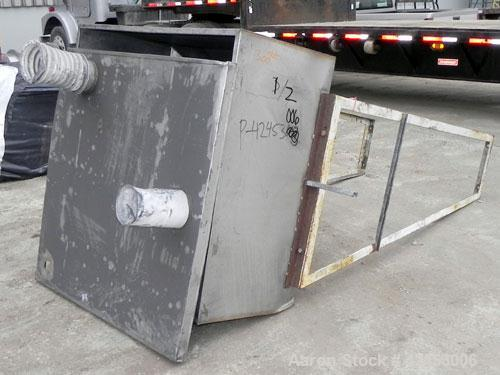 """Used- Hopper, Approximate 4 Cubic Feet, 304 Stainless Steel. 48"""" Long x 48"""" wide x 24"""" straight side x 36"""" cone bottom. (1) ..."""