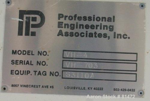 "Used- Professional Engineering Associates Live Bottom Bin Discharger, Model VH-4, Carbon Steel. 48"" diameter x coned bottom...."