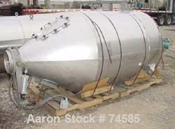 "USED:Shick 3600 pound scaling/receiving hopper, 70 cu ft, stainlesssteel. 52"" diameter x 60"" straight side, coned top and bo..."