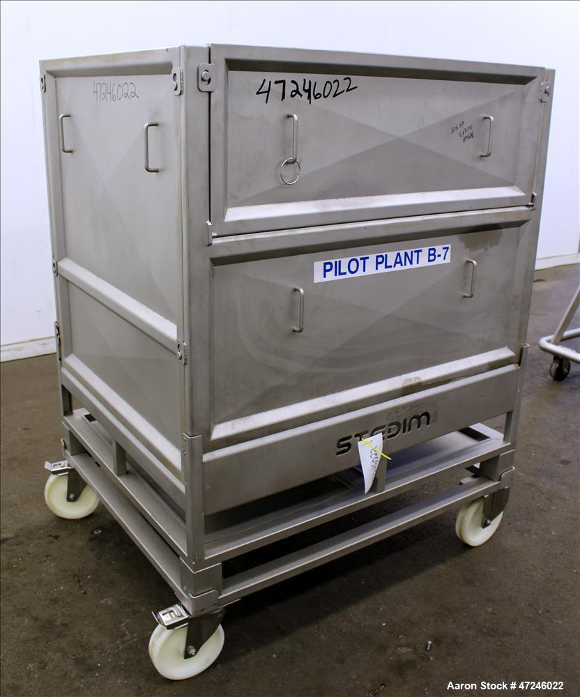 Used- Sartorius Stedim Palletank In-Process Fluid handling Bin, Approximate capa