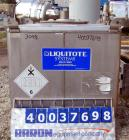 Used- Hoover Group Liquid Tote Bin, 46.77 cubic feet (350 gallon), 304 stainless steel. 42
