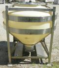 Used- Plastic tote bin, approximately 18 cubic feet (134 gallon). 46