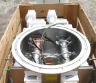 Unused- Acrison Multiple Auger/Agitator Bin Discharger, Model BD-2.5 Round, 304 Stainless Steel. (2) 4-1/2