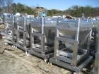 USED: GEI Galley stackable tote bin, approximately 20 cubic feet,stainless steel. 43-1/2