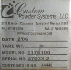 Used- Custom Powder Systems Type ''B'' Column Dumper, model 1176100, 304 stainless steel. 3000 pound capacity. Designed for ...