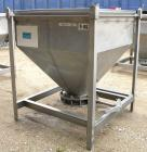 Used- Dry Tote Bin, Approximately 14 cubic feet capacity, 316 stainless steel. 36