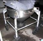 Used- Tote Hopper, Approximately 6 Cubic Feet, Stainless Steel. 34