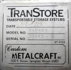Used- Stainless Steel Custom Metalcraft TransStore Transportable Powder Tote, Model 512697