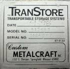Used- Stainless Steel Custom Metalcraft TransStore Transportable Powder Tote, Model 512709