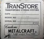 Used- Stainless Steel Custom Metalcraft TransStore Transportable Powder Tote, Model 512711