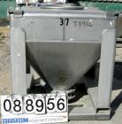 Used- Tote Systems tote bin, 35 cubic feet, 304 stainless steel. 48