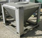 USED: Tote Systems tote bin, 23 cubic feet, 304 stainless steel. 48