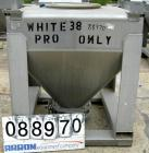 USED: Tote Systems tote bin, 35 cubic feet, 304 stainless steel. 48