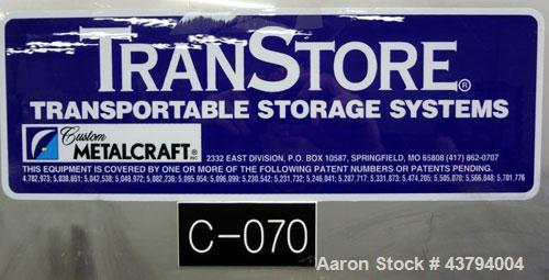 Used- Custom Metalcraft TransStore Transportable Powder Tote, Approximate 60 Cubic Feet (448 gallon), Model 512697, 316L Sta...