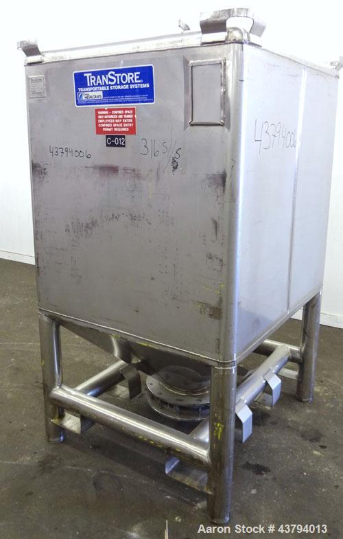 Used- Stainless Steel Custom Metalcraft TransStore Transportable Powder Tote, Model 512698
