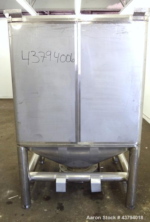 Used- Stainless Steel Custom Metalcraft TransStore Transportable Powder Tote, Model 512703