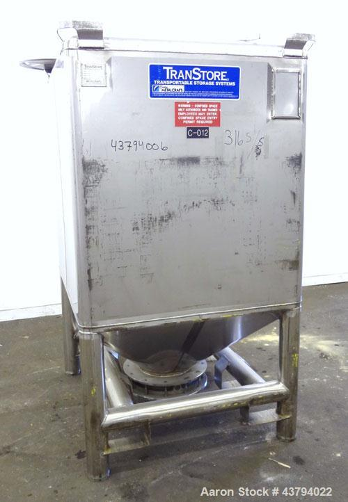 Used- Stainless Steel Custom Metalcraft TransStore Transportable Powder Tote, Model 512707