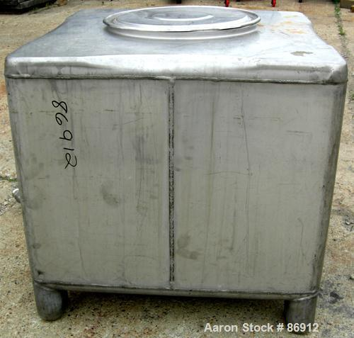 "USED- Tote Systems Tote Bin, 304 Stainless Steel, 31 Cubic Feet (232 Gallons). 41"" wide x 41"" long x 32"" deep. 22"" diameter ..."