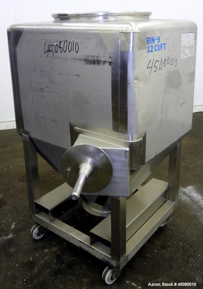 Used- Stainless Steel Tote Containers And Systems Portable Tote Bin, Model TS/10