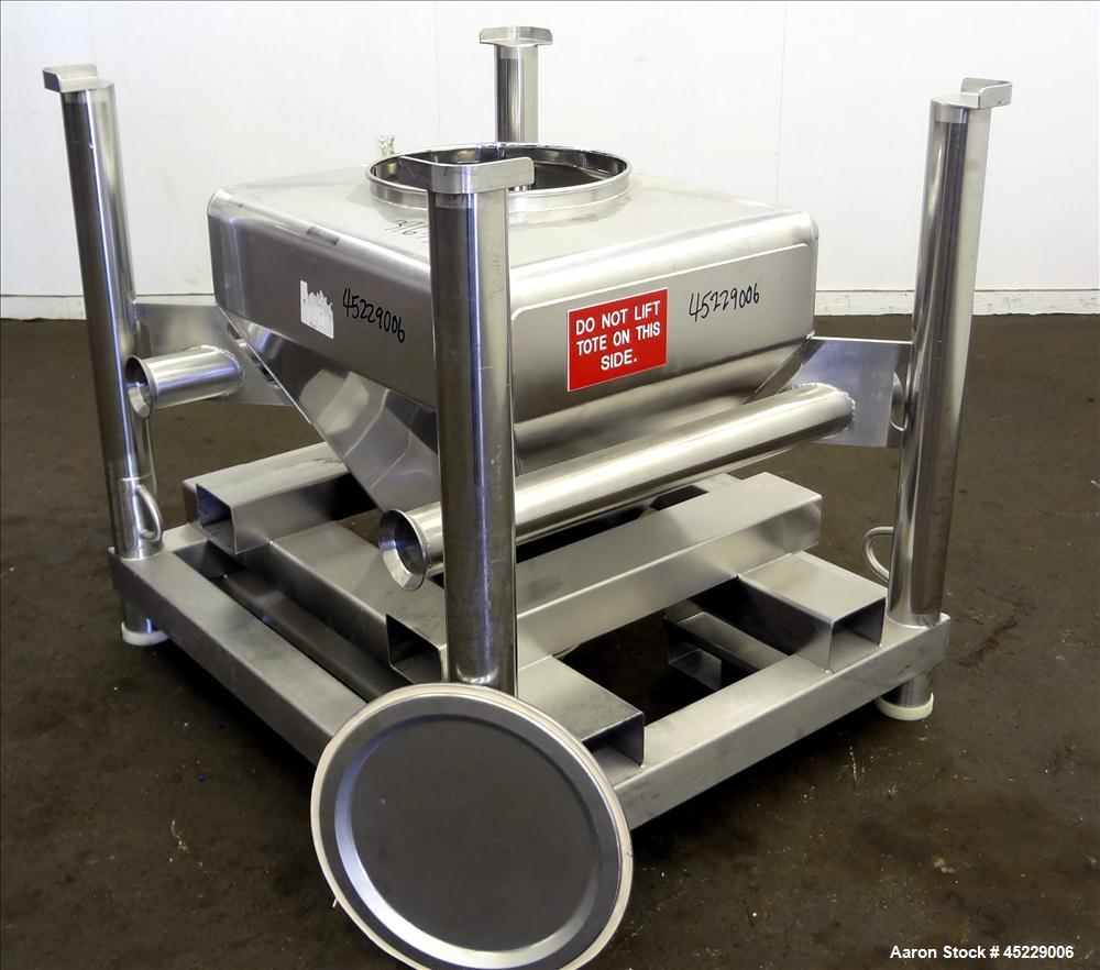 Used - 300 Liter Stainless Steel Tote Systems Powder Tote Bin