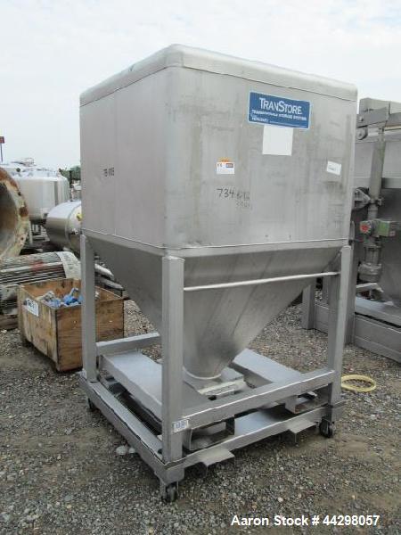 Used- Stainless Steel Transtore Tote Bin