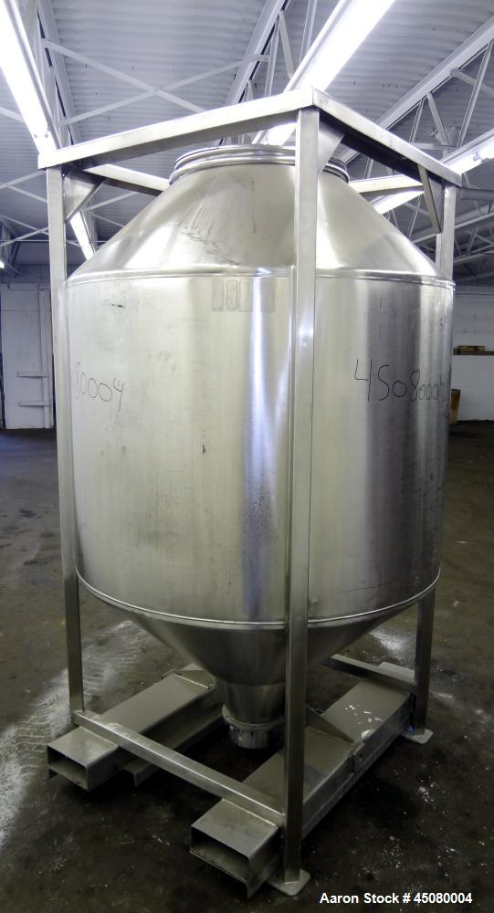 Used- Stainless Steel United Utensils Cone-In-Cone Tote Bin