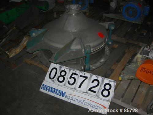 """Used- Vibra Screw Bin Activator, 304 stainless steel. 36"""" diameter x coned bottom. Rated approximately 2300 pounds per hour,..."""