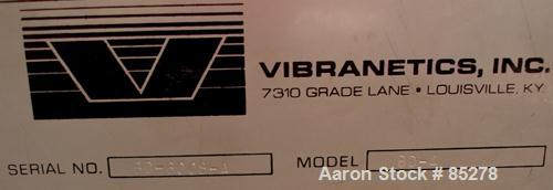 Used- Vibranetics Inc Heavy Duty Live Bottom Bin Discharger, Model BD-1, Approximate 8.3 Cubic Feet Capacity, Carbon Steel. ...