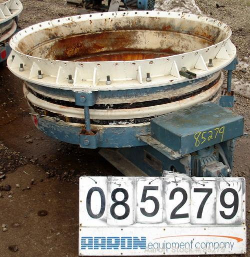 Used- Vibranetics Inc Heavy Duty lLive Bottom Bin Discharger, Model BD-1, Approximate 8.3 Cubic Feet Capacity, Carbon Steel....