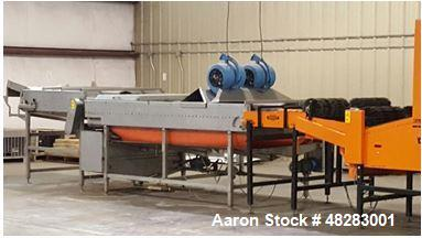 Used- Dual Dryer Onion Peeling and Grading Line. Includes the following: CMI onion peeler, up to 2000-2500 lbs. of topped, t...